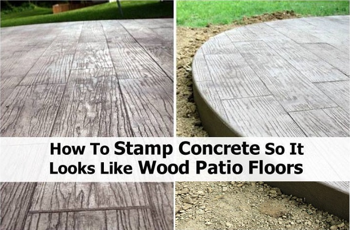 DIY Stamped Concrete Wood Tutorial