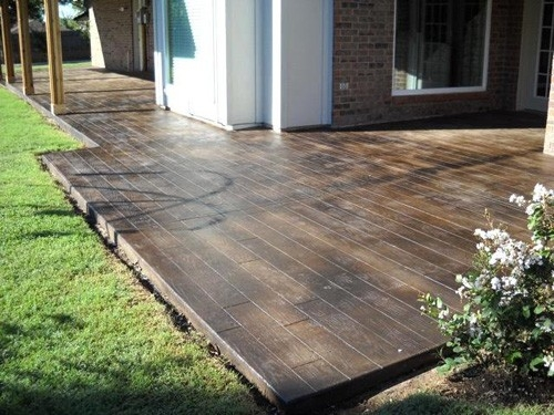 DIY Stamped Concrete Wood