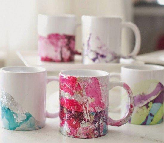 DIY Water Marble Mug Tutorial