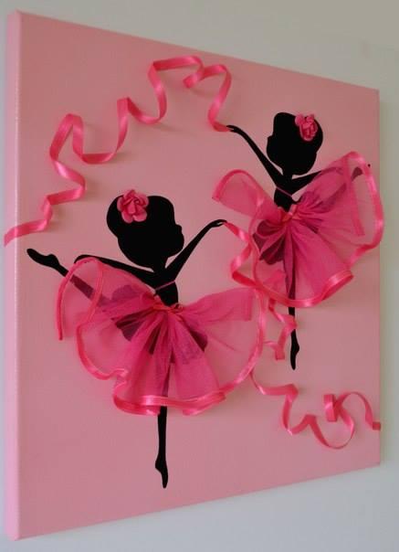 DIY Dancing Ballerina Canvas Wall Art Tutorial - Video
