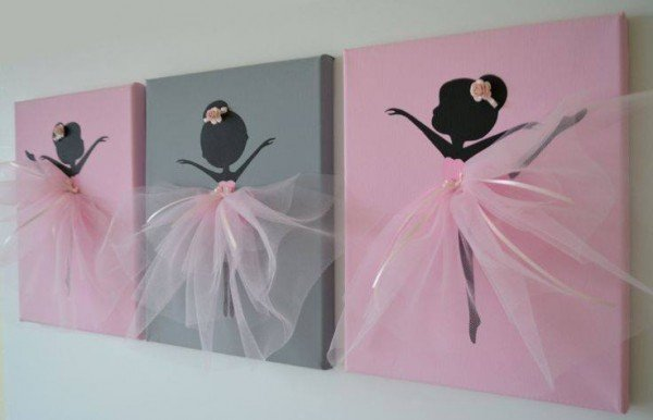 dancing ballerina canvas wall art. Black Bedroom Furniture Sets. Home Design Ideas