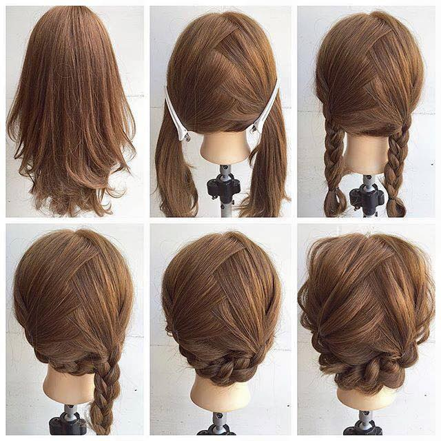 Innovative Easy Diy Updos For Medium Length Hair  Newhairstylesformen2014com
