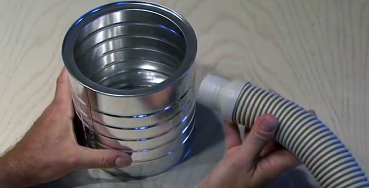 He Attached A Hose To Coffee Can. The Results? Totally Awesome!