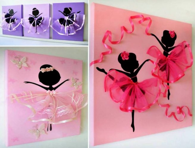 Dancing Tutu Ballerina Canvas Wall Art