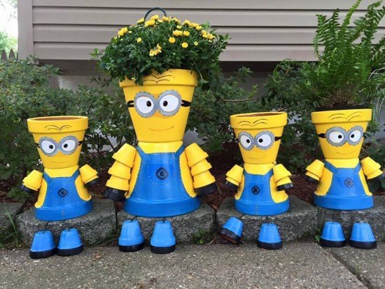 Genial How To DIY Clay Pot Planter People