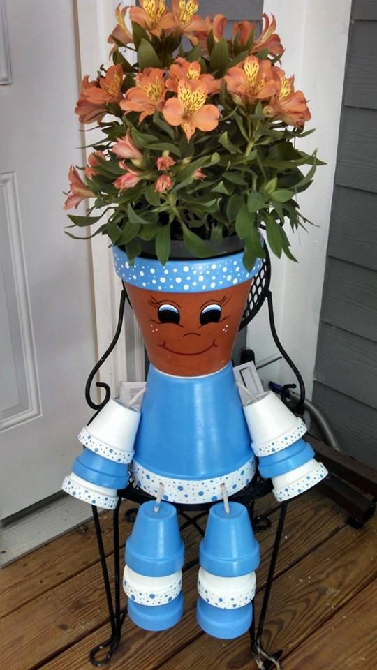 How to DIY Clay Pot Planter People