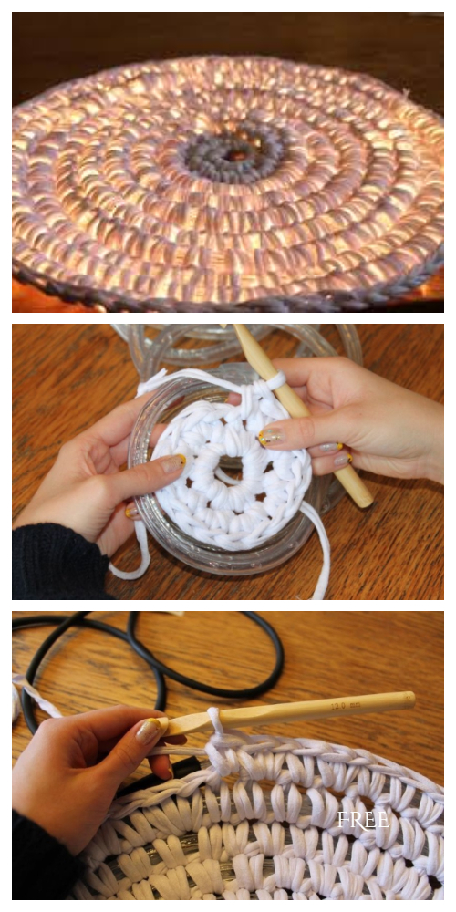 String Light Rug Free Crochet Pattern