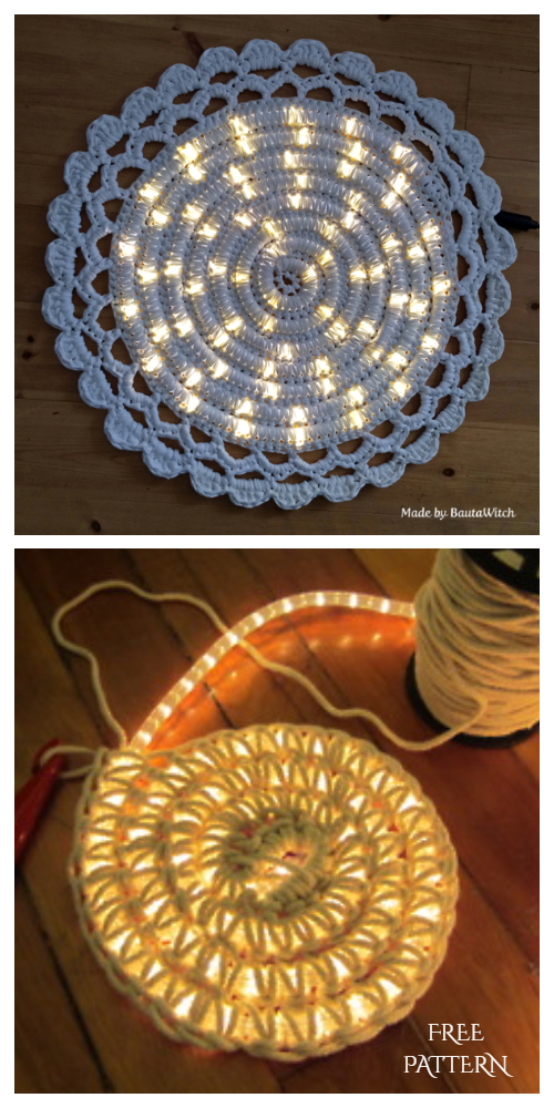 Crochet LED Rope Light Carpet Free Pattern