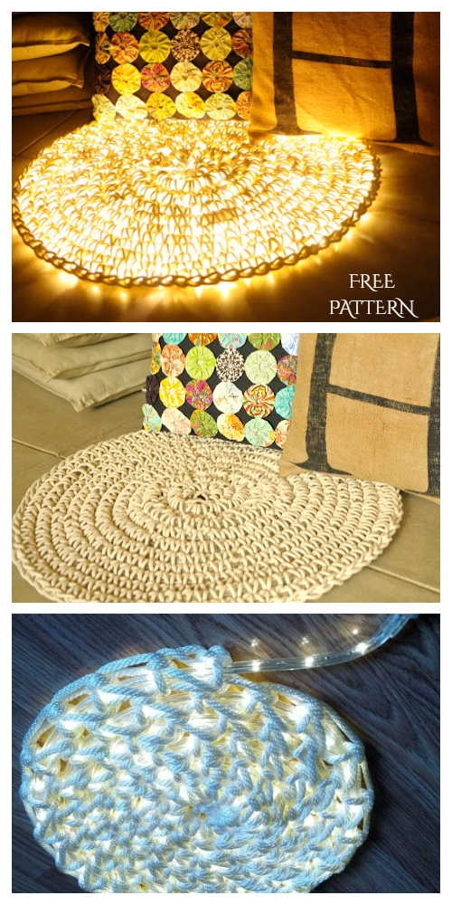 Crochet Night Light Rug Free Pattern