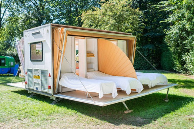 This Camper May Look Odd, But Once You See Inside, You'll Want One - transformable mobile house design