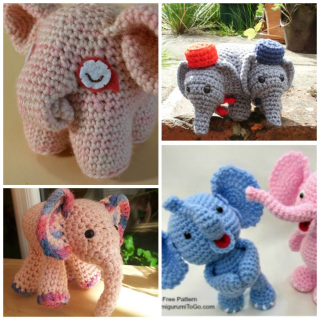Crochet Pattern For Baby Espadrilles : DIY Baby Elephant Crochet Tutorial
