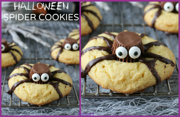 10 Fun and Sweet Halloween Treats DIY Ideas 03 -Halloween Spider Cookies Recipe