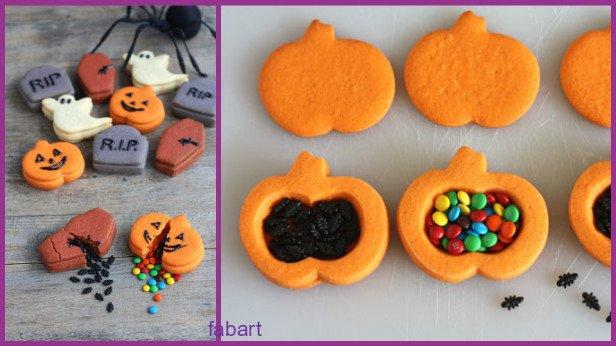 10 Fun and Sweet Halloween Treats DIY Ideas 06-Halloween Pinata Cookies