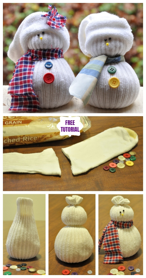 Christmas DIY Cute Sock Snowman Tutorial