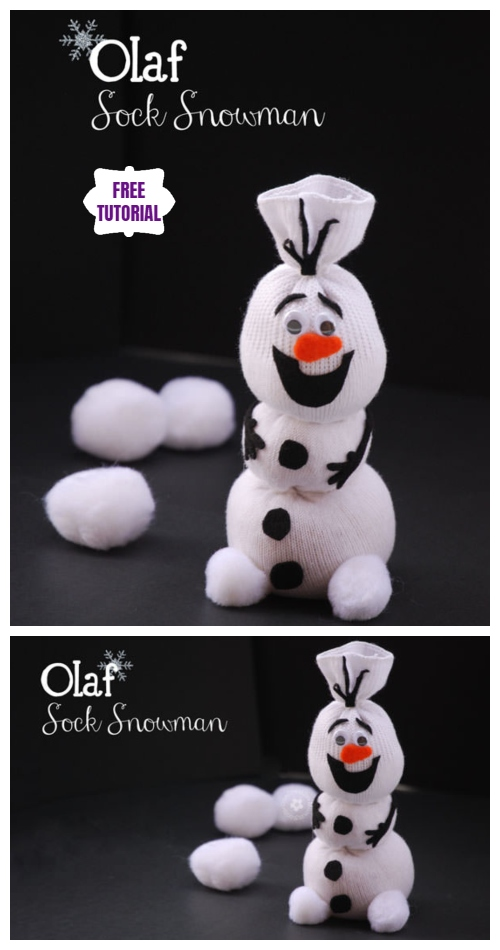 Christmas DIY Cute Sock Olaf Snowman Tutorial