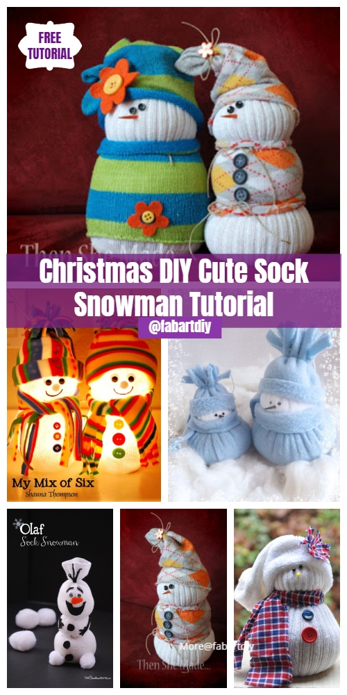 Different Ways to DIY Sock Snowman Tutorials