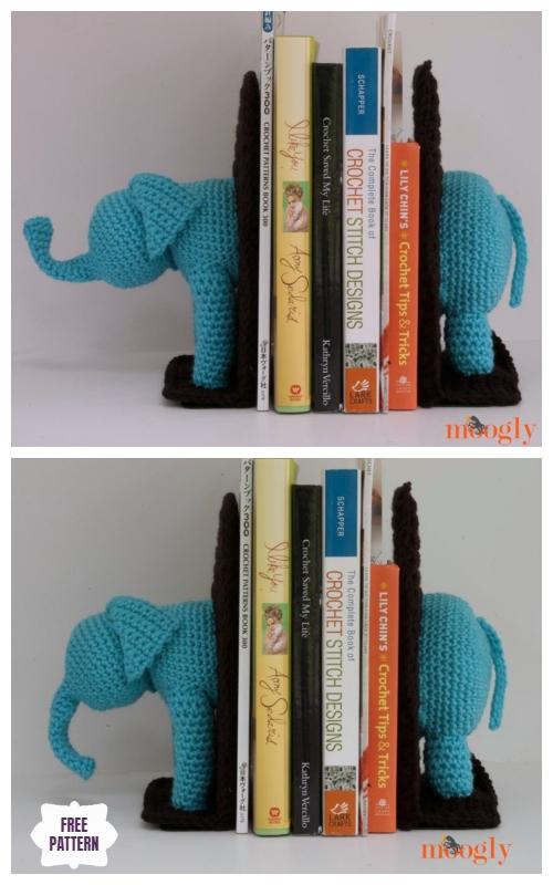 Crochet Elephant Book Ends FREE Crochet Pattern