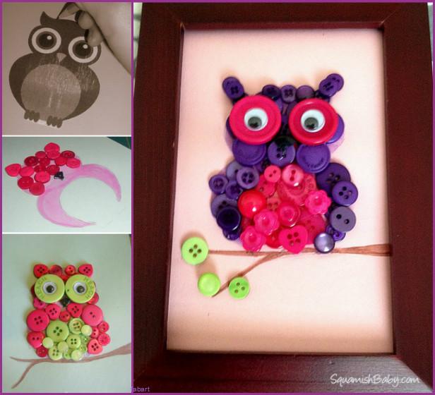 fabartdiy DIY Button Owl Tutorial