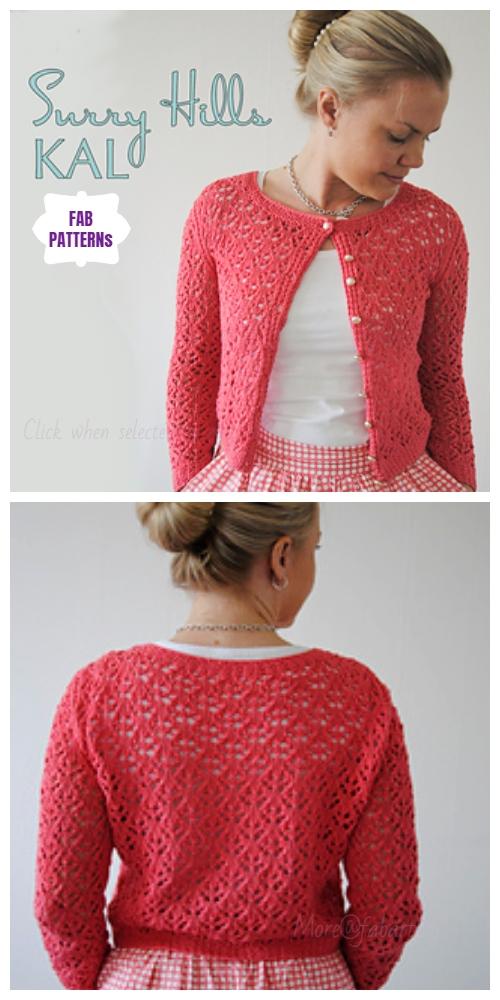 Knit Surry Hills Cardigan Free Knitting Pattern