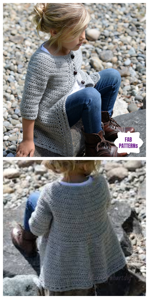 Crochet GirlCairbre CardiganCrochet Pattern