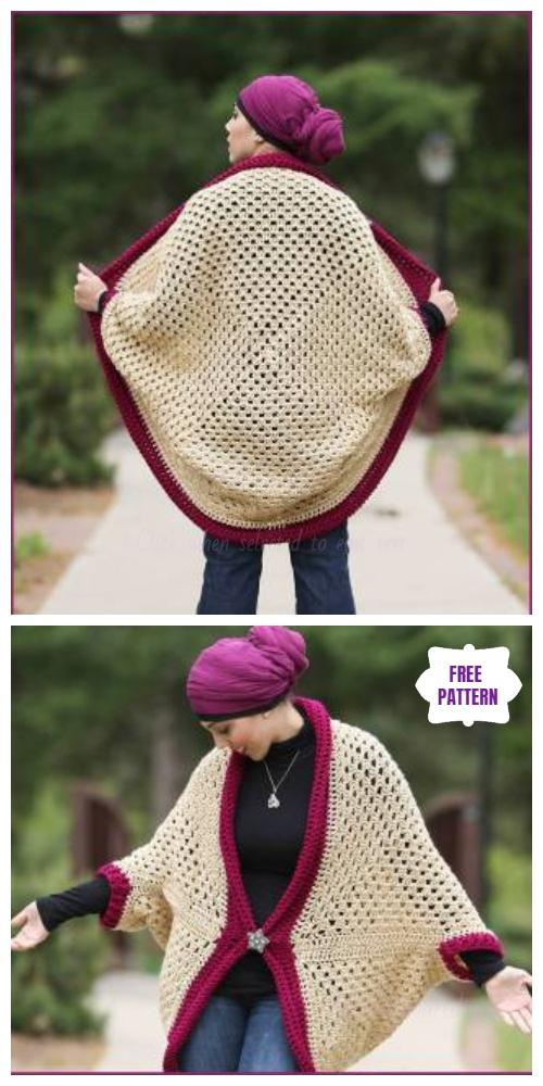 Crochet Granny Square Cardigan Free Pattern-Video