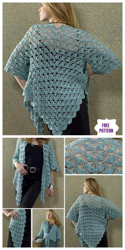 Crochet Zen Lace Jacket Free Crochet Pattern
