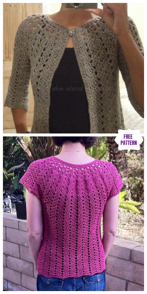 c3b5071fe 16 DIY Crochet Cardigan Sweater Coat Free Patterns