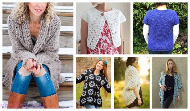 8da39b59f 16 DIY Crochet Cardigan Sweater Coat Free Patterns