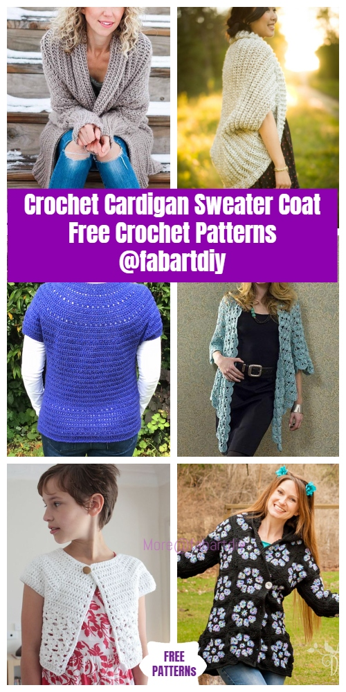 Crochet Cardigan Sweater Coat Free Crochet Patterns & Paid