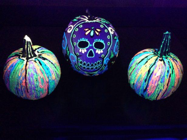DIY Glow In The Dark Skull Pumpkin Tutorial for Halloween Decoration