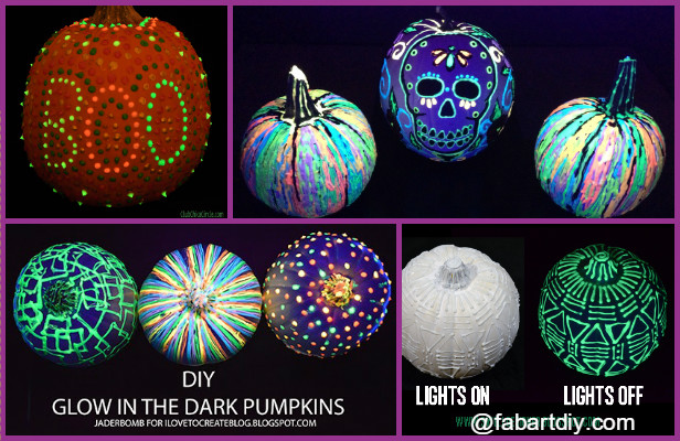 DIY Glow In The Dark Pumpkin Tutorials (Video)