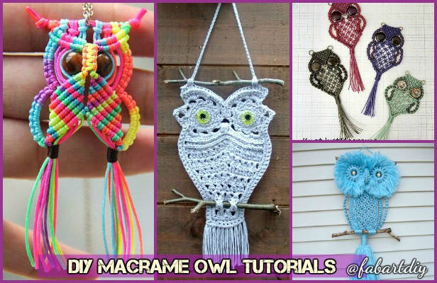 Fabartdiy DIY Macrame Owl Tutorials
