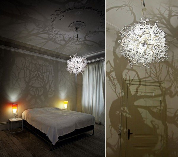 Amazing DIY Forest Tree Shadow Chandelier Inspired by Nature, click for DIY tutorial and video