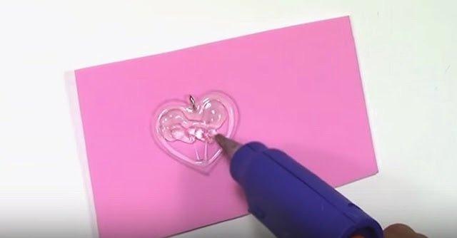 DIY Make Hot Glue Heart Pendant
