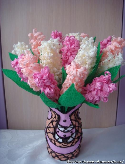 DIY Beautiful Crepe Paper Hyacinth Flower