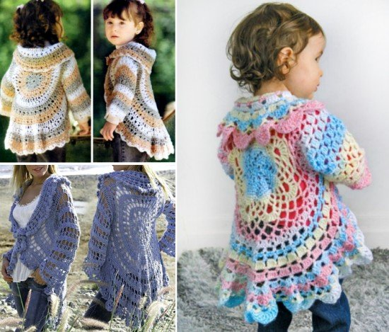 Free Crochet Pattern Little Girl Sweater : DIY Crochet Cardigan Sweater Free Patterns