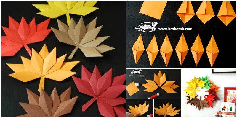 Fold Origami Maple Leaf