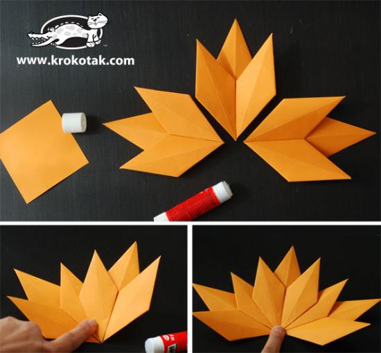 Maple Leaf Origami | Paper Origami Guide | 509x550