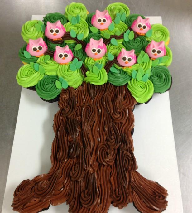 DIY Owl Cupcake Cake Tree Tower Recipe and Tutorial