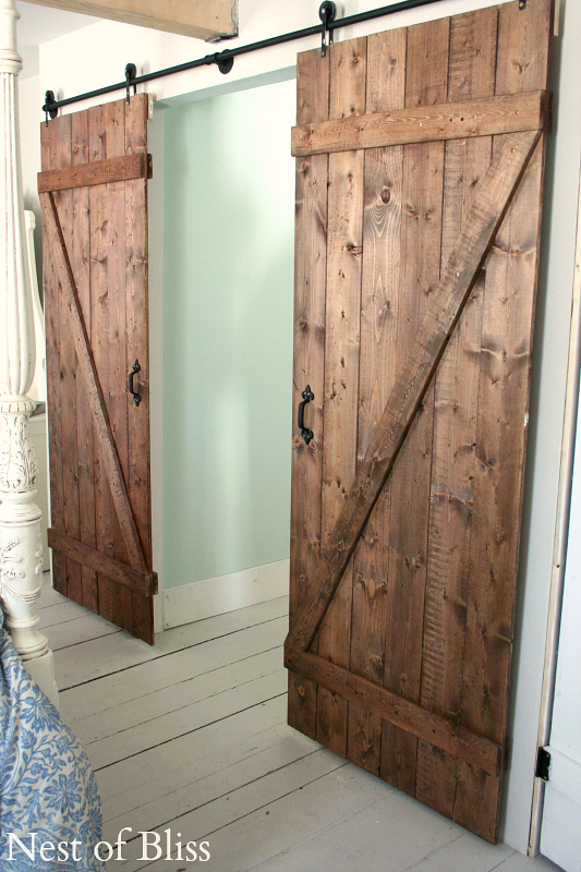 How to make an easy sliding door - How to make an interior barn door ...