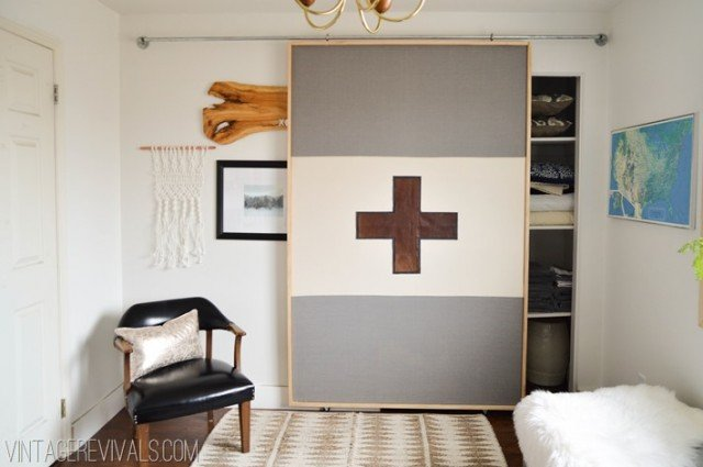 Perfect How To Make A Sliding Door For Under $40 Via Apartment Therapy