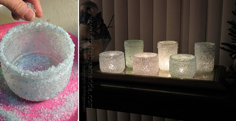 How to Make Frosted Epsom Salt Luminaries for Christmas
