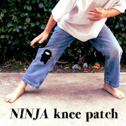 Fun DIY Jean Hole Patches in Cutest Ways - Ninja Jean Holes Patch DIY Tutorial