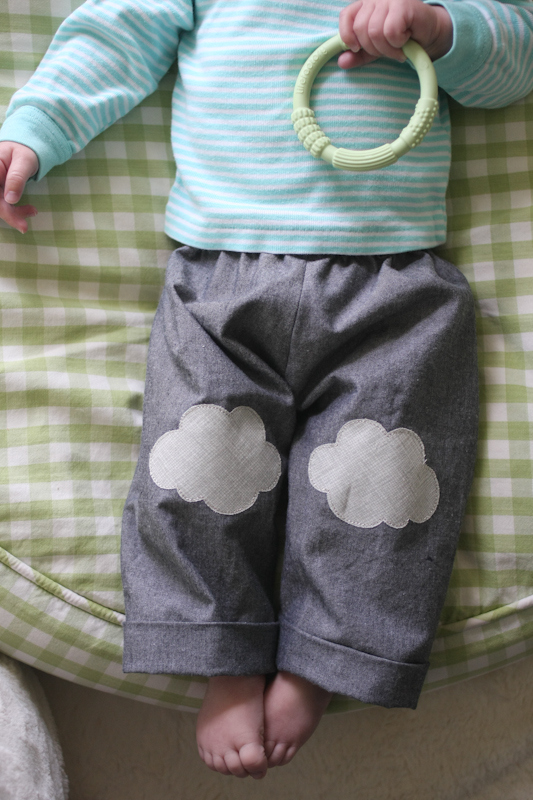 Fun DIY Jean Hole Patches in Cutest Ways - Cloud Jean Holes Patch DIY Tutorial