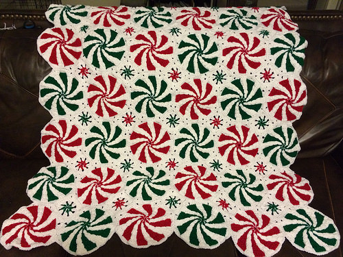 How to DIY Crochet Peppermint Afghan Throw (Video)