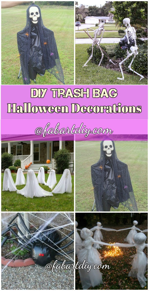 12 DIY Scary Trash Bag Halloween Decorations