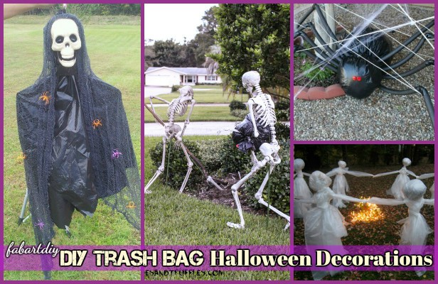 12 DIY Trash Bag Halloween Decorations