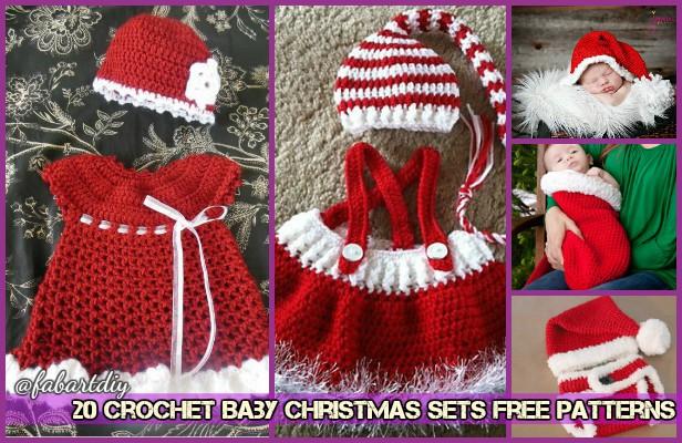 20 Crochet Baby Christmas Sets Free Pattern