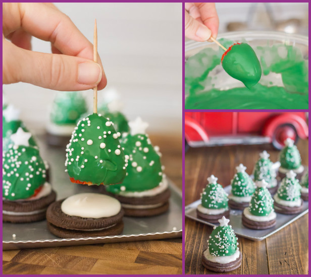 DIY Chocolate Covered Strawberry Christmas Tree Recipe