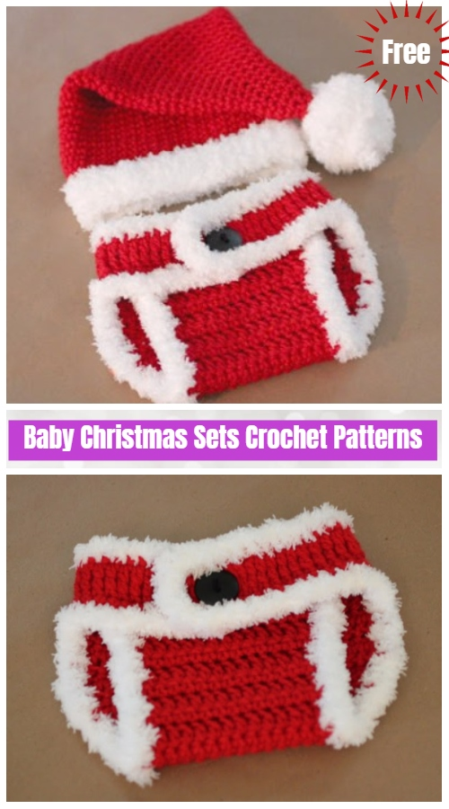 Crochet Santa Hat and Diaper Cover Free Crochet Pattern